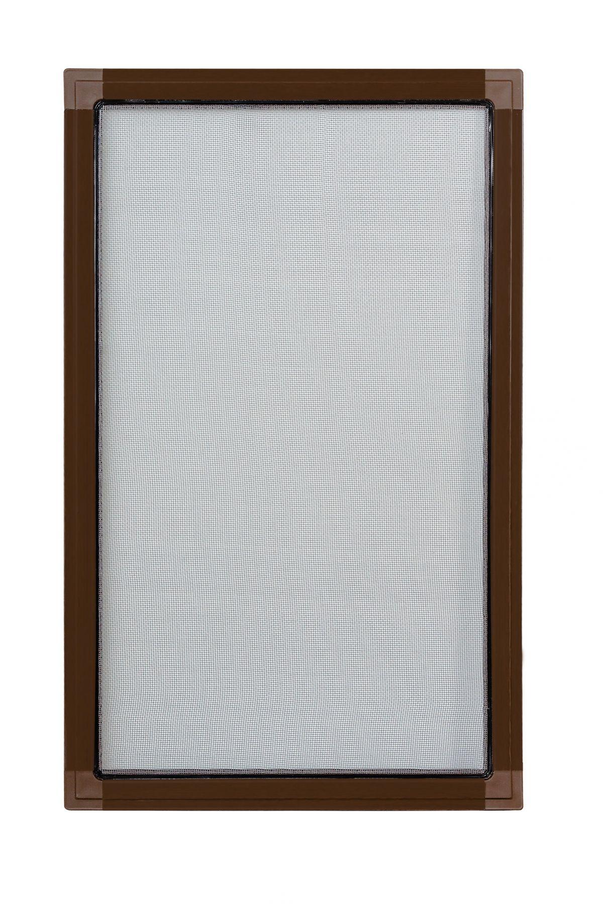 Moskitiery okienne Moskitiera ramkowa - brąz, siatka szara