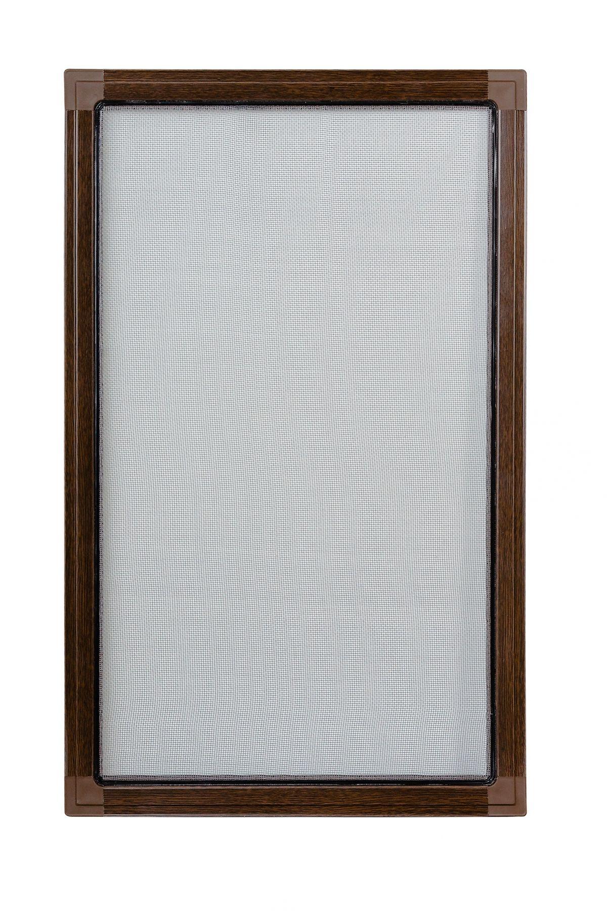 Moskitiery okienne Moskitiera ramkowa - orzech, siatka czarna