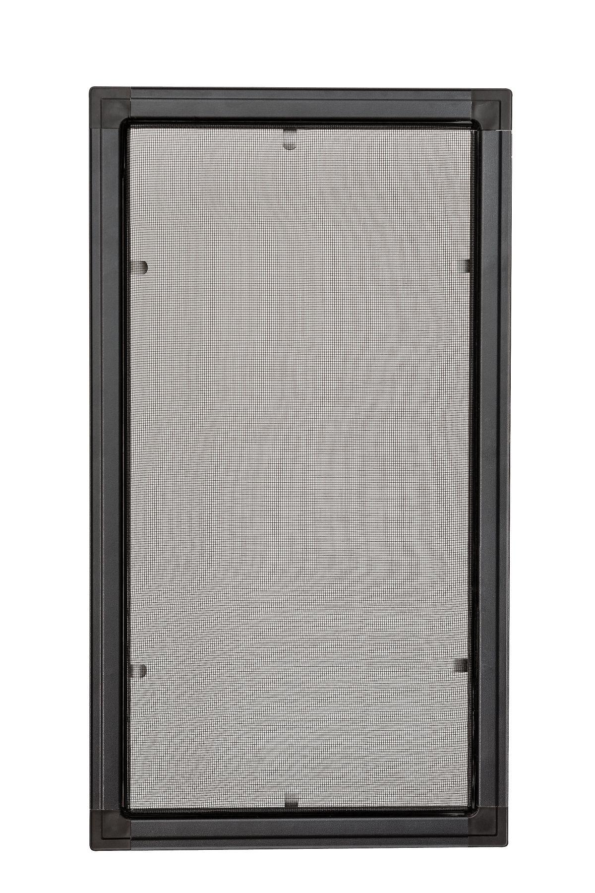 Moskitiery okienne Moskitiera ramkowa - antracyt, siatka szara