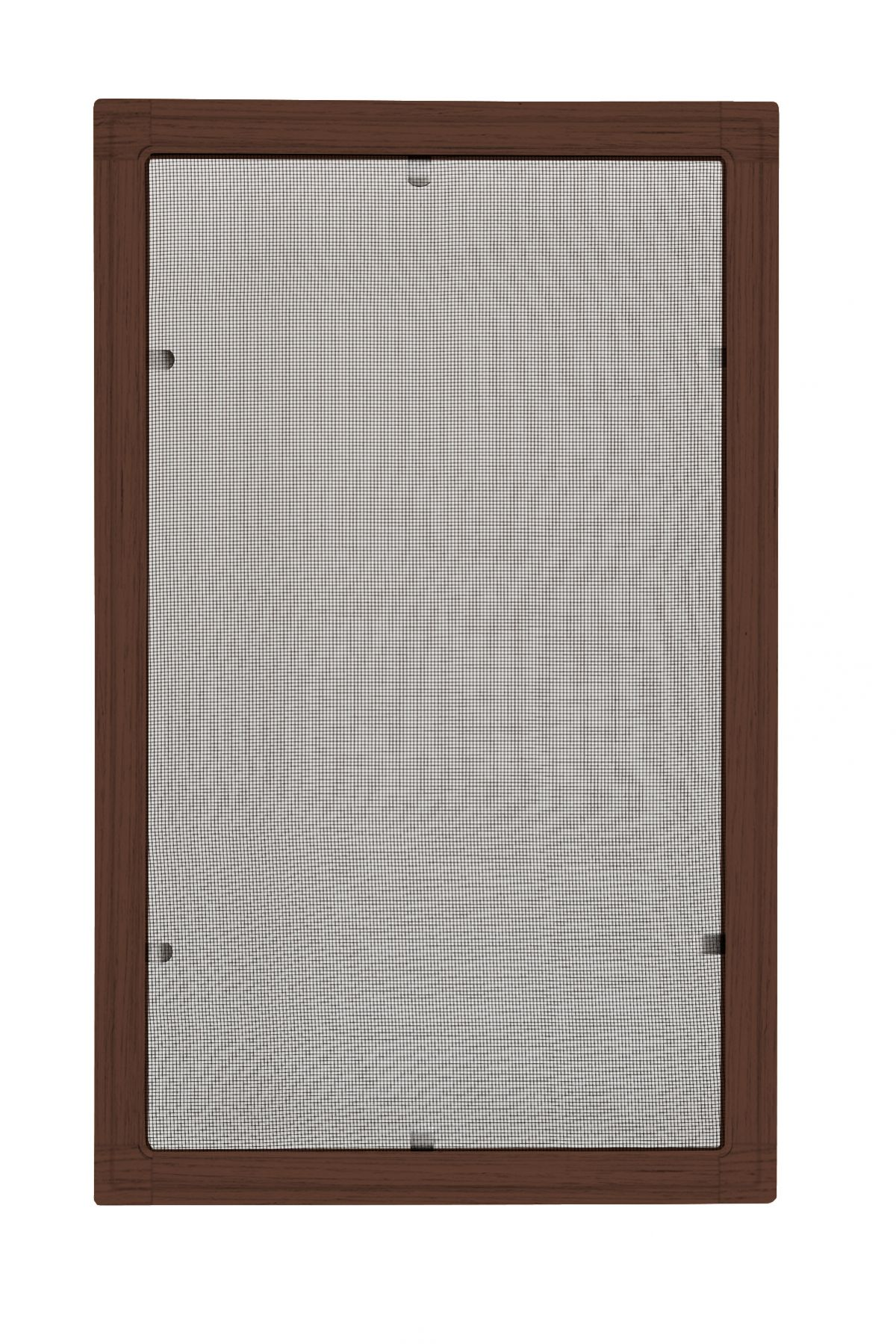 Moskitiery okienne Moskitiera ramkowa - mahoń, siatka szara