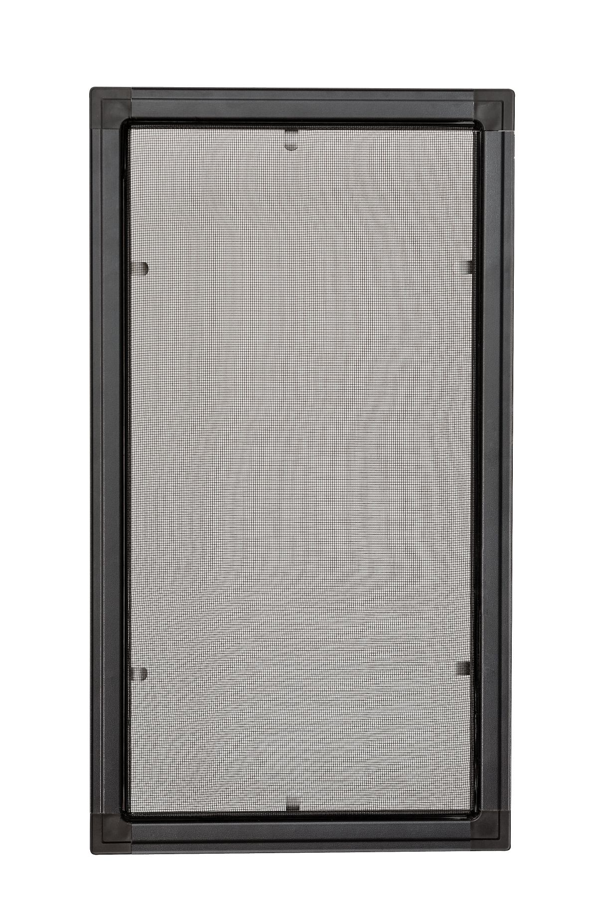 Moskitiery okienne Moskitiera ramkowa - antracyt, siatka czarna
