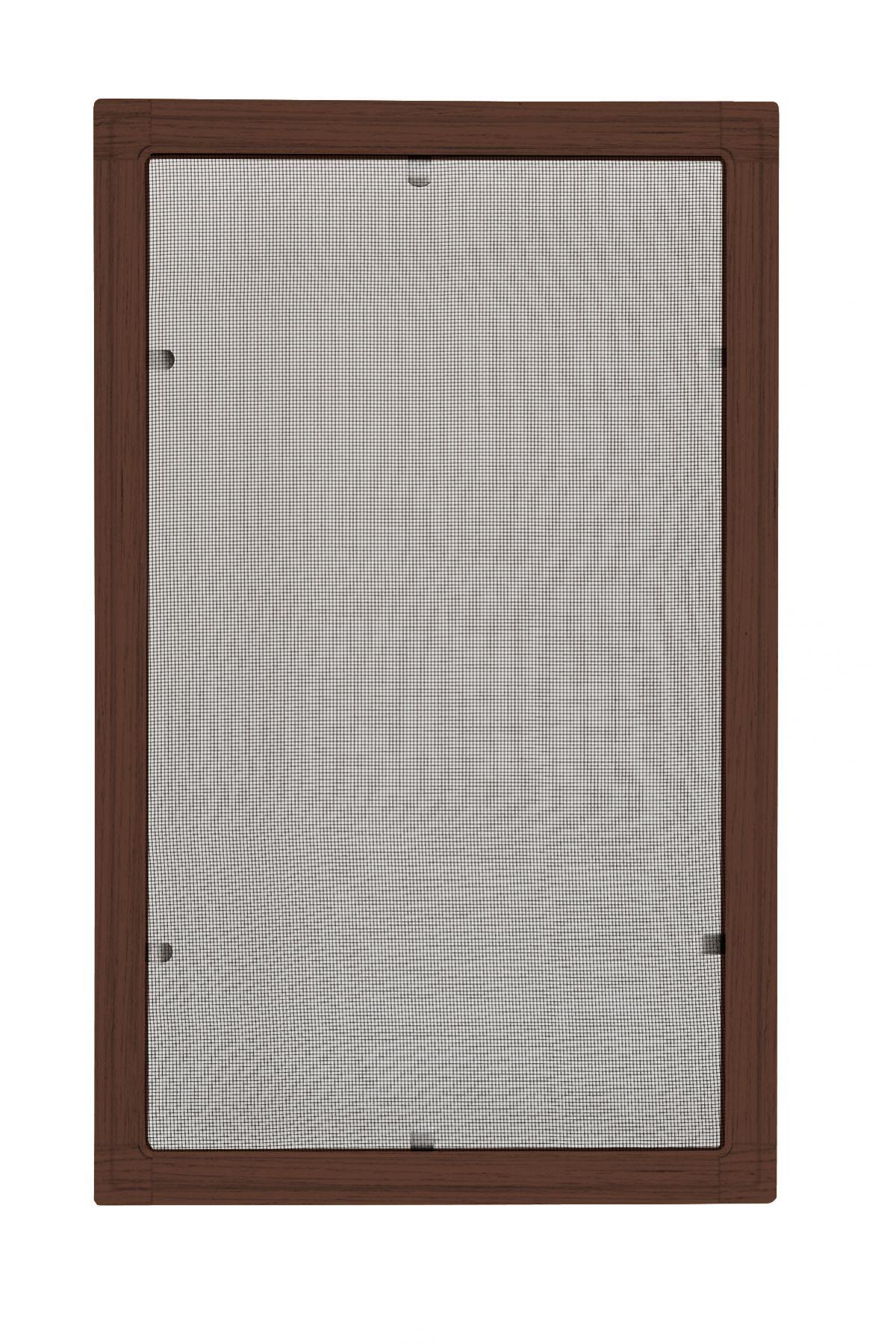 Moskitiery okienne Moskitiera ramkowa - mahoń, siatka czarna