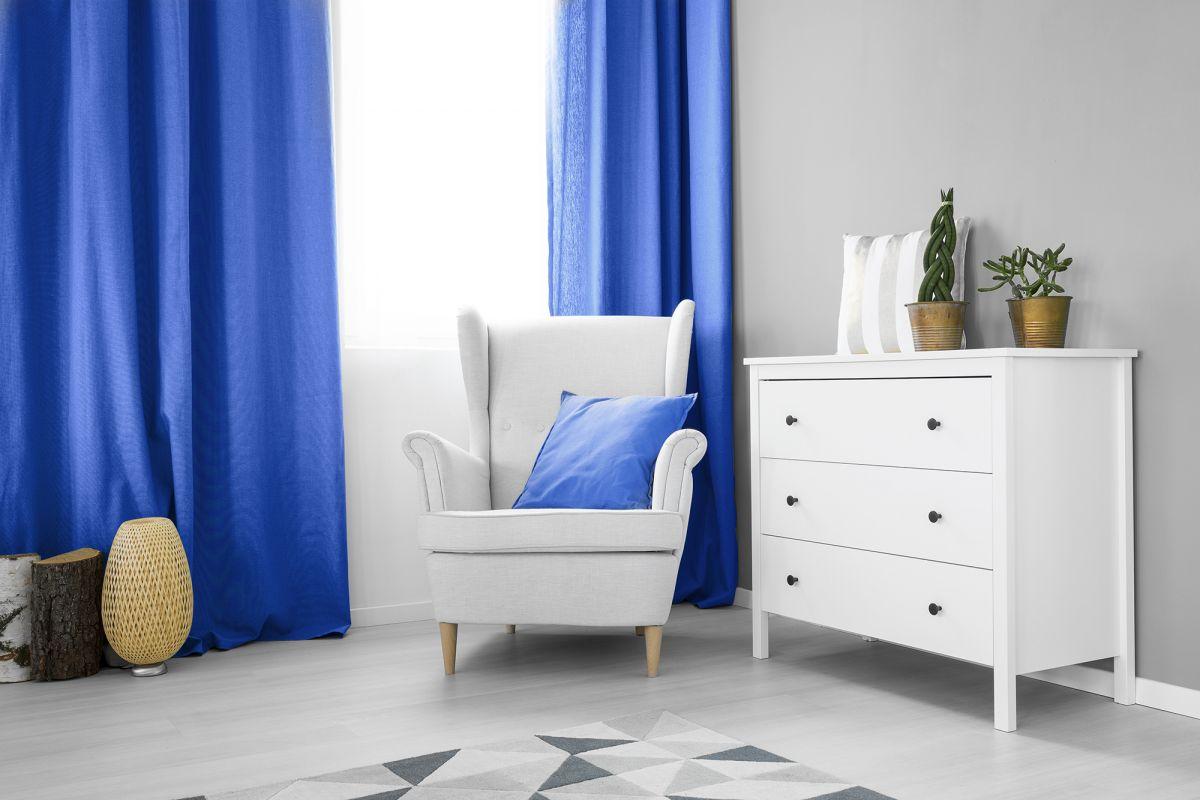 Zasłony okienne Zaciemniająca niebieska 140x250